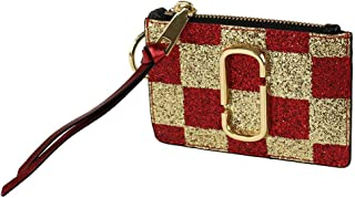 Marc Jacobs Womens Snapshot Checkerboard Top Zip Multi Wallet