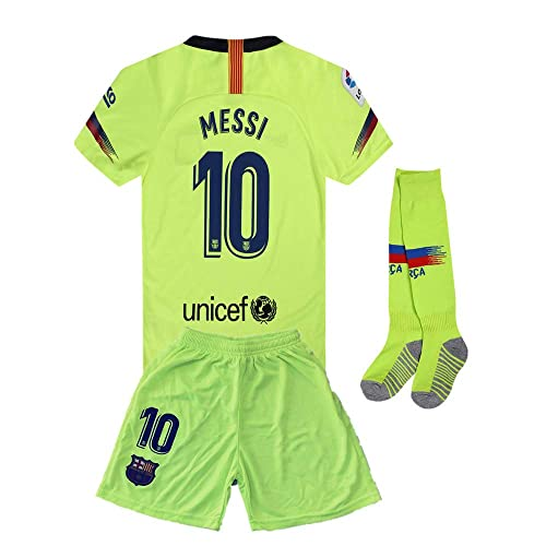 c811a3c13 CRONMSI 2018-2019 Away Messi  10 Barcelona Kids Or Youth Soccer Jersey    Shorts
