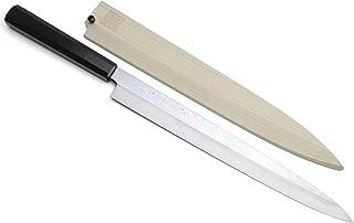 Yoshihiro Ginsan Honyaki Mirror Polished Yanagi Japanese Sushi Sashimi Chef Knife with Premium Ebony Handle (11.8'' (300mm))