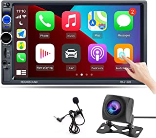 $91 » Hikity Car Stereo Double Din Carplay in-Dash Digital Media 2021 New 7 Inch Touchscreen Radio, Bluetooth FM Receiver, Mirro...