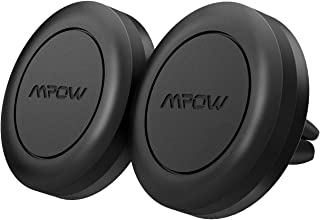 Mpow [ Import Tech Guarantee ] Upgraded Magnetic Car Phone Mount, Strong Magnet Air Vent Car Phone Holder Compatible iPhone 11 Pro/XS MAX/XS/XR/X/8/8 Plus, Samsung Galaxy S9/S8/S7, and More