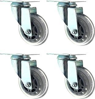 Caster wielen 75mm, wivel wiel wiel, met bevestigingsplaat, geschikt voor meubels trolley werkbank garage, elke set wielen...