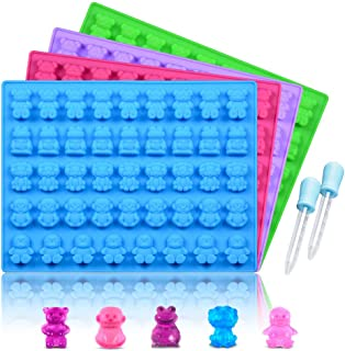 Silicone Candy Gummy Bear Molds - Chocolate Molds Including Bears, Frogs, Lions, Monkeys, Penguins Gummie Molds Premium Si...