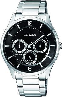 ساعة كوارتز للرجال من سيتيزن، بشاشة عرض انالوج وسوار من الستانلس ستيل - AG8351-86E