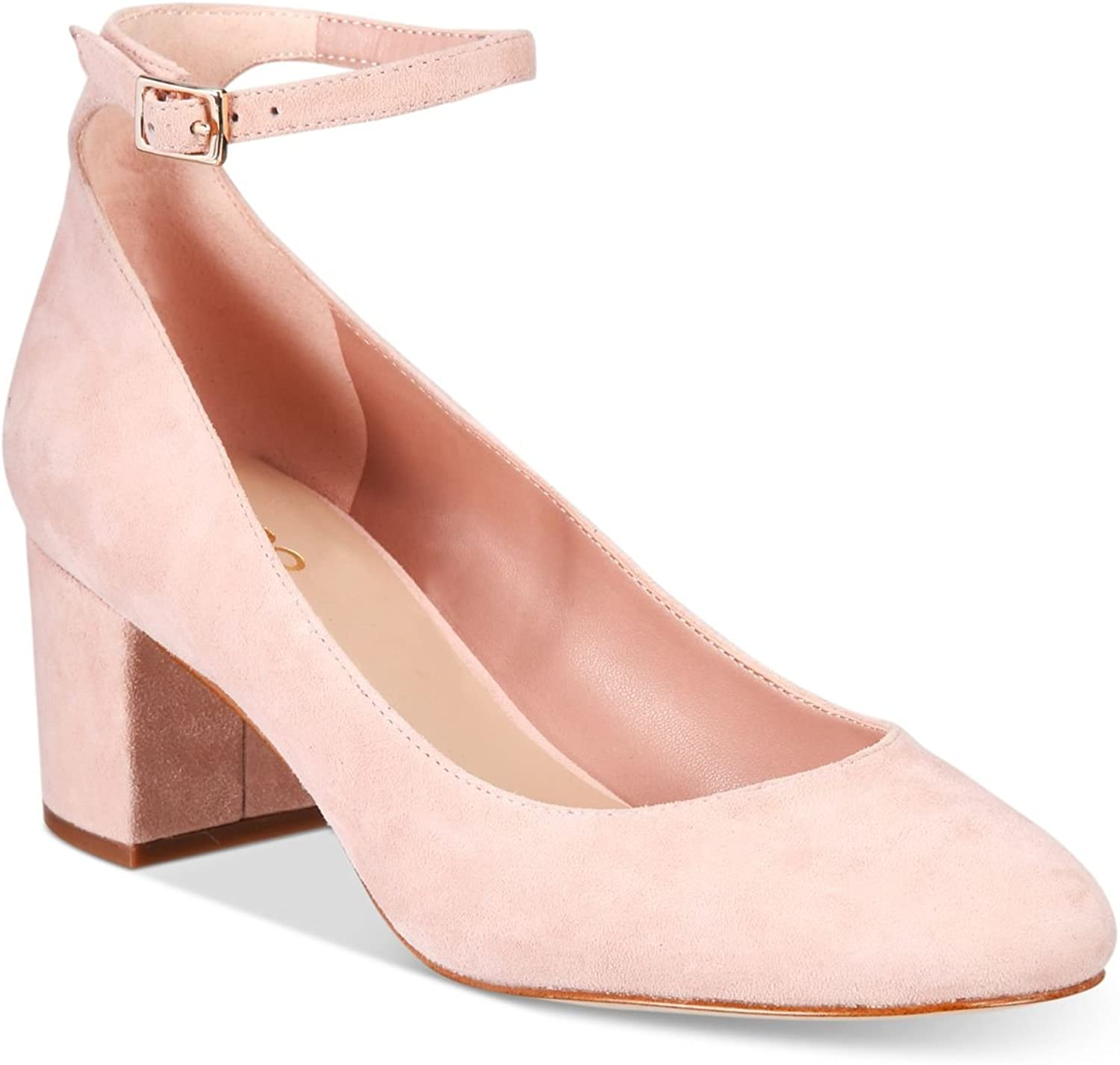Aldo Womens Clarisse Suede Closed Toe Ankle Strap Classic Pumps, Pink, Size 8.0