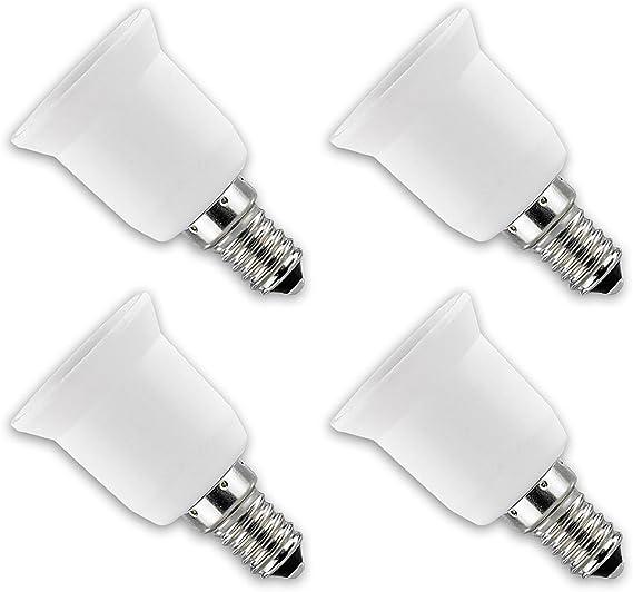 Lunartec Lampen Adapter Lampensockel Adapter E14 Auf E27 4er Set Adapter Für Glühbirnen Beleuchtung