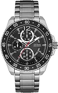 Guess Men's Black Stainless Steel Band Watch - W0797G2