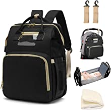 LBW Diaper Backpack with Folding Crib Bassinet, Large Capacity Bag for Baby Travelling Includes Diaper Changing Pad and Pr...