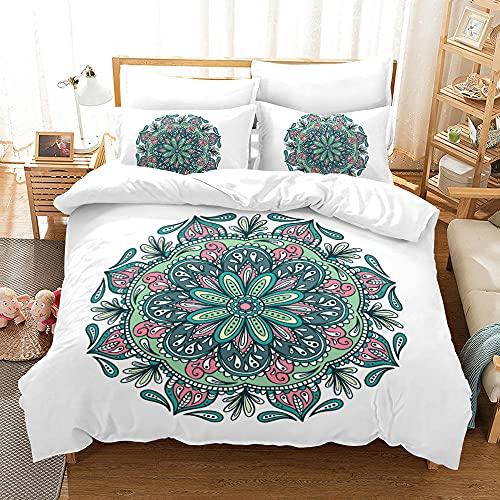 Bedclothes-Blanket Juego de sabanas Cama 90 Juveniles,Conjunto de Ropa de Cama de Tres Piezas de impresión Digital Floral.-10_200 * 225