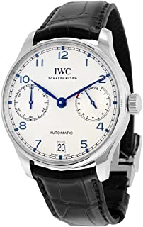 IWC Men's Swiss Automatic Watch with Stainless Steel Strap, Black (Model: IW500705)