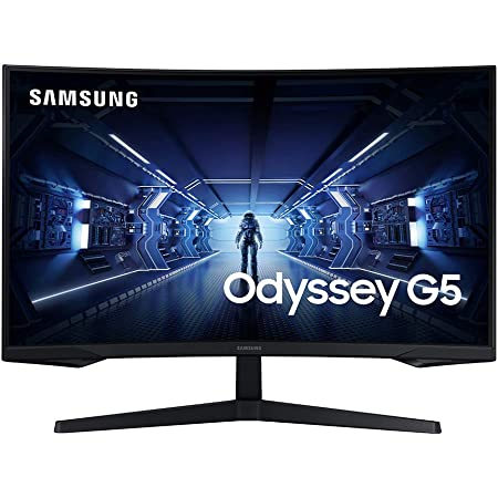 SAMSUNG Odyssey G5 Series 32-Inch WQHD (2560x1440) Gaming Monitor, 144Hz, Curved, 1ms, HDMI, Display Port, FreeSync Premium (LC32G55TQWNXZA)