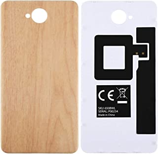209925 Direct Factory Smartphone Replacement Parts Smartphone Repair Parts for Microsoft Lumia 650 Wood Texture Battery Back Cover with NFC Sticker Mobile Phone Parts (Color : Color2)
