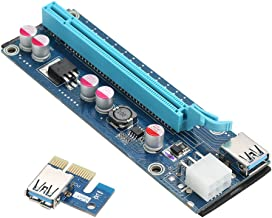 Segotep PCI-E 1X a 16X Docooler powered USB3.0 GPU Expander Riser Card Adaptador de 6 pines con USB3.0 de 60 cm y cables de alimentación Molex a SATA para minería Eth BTC Bitcoin Ethereum Litecoin