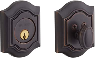 Baldwin Estate 8237.112 Low Profile BethPage Single Cylinder Deadbolt in Venetian Bronze