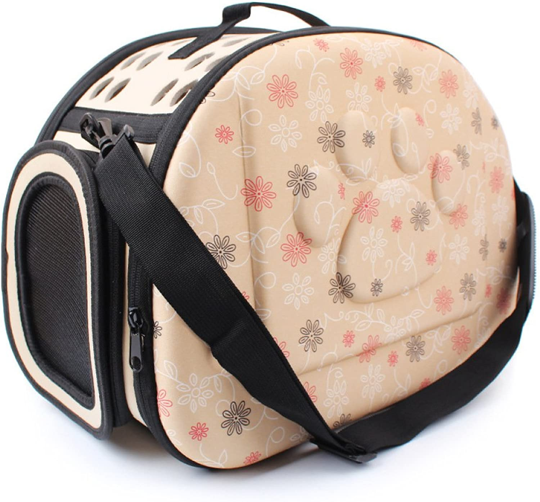 Aycc Printed Pet Cat Travel Bag Travel Bag Portable Pet Travel Bag Fold Pack Travel Puppy Carrying Backpack Net Shoulder Bag,Yellow