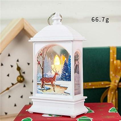 Lampe de No/ël,Rameng Lanterne P/ère No/ël Bougie Led No/ël D/écoration Romantique