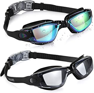 Aegend Swim Goggles, Pack of 2 Swimming Goggles No...