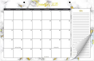 "Aesthetic Marble Desk Calendar 17"" x 11"" - Desktop/Wall Calendar for Easy Planning, Incl. Year 2021"