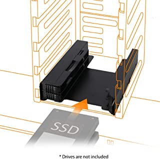 ICY DOCK Tool-less EZ-Fit PRO MB082SP 2x 2.5 Inch to 3.5 Inch Dual Internal Hard Disk SSD Drive Metal Mount Adapter Bracket Kit