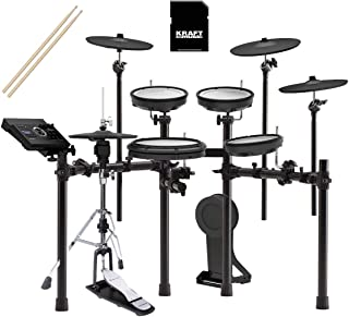 Roland TD17KVX V-Drums Kit with Roland RDH120 Hi-Hat Stand, Kraft Music SD Card, and Sticks