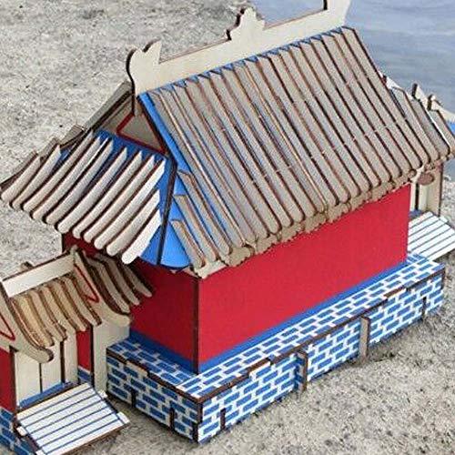 Blancho Bedding der Shaolin Tempel Dreidimensionale Gebäude des Manuelle Montage Holzmodell