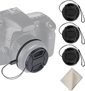 Snap-On: Pellizco Central Cubierta Protectora CELLONIC Tapa Objetivo Frontal Compatible con Nikon 1 NIKKOR 10-100mm 4-5.6 VR AF-P DX NIKKOR 18-55 mm 3.5-5.6 G VR /Ø 55mm DL24-500