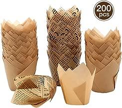 torte Lawei 200 Tazze di carta tulipano muffin Liner per cupcake per dessert