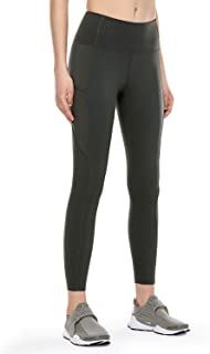 CRZ YOGA Women's Naked Feeling High Waist Tummy Control Stretchy Sport Running Leggings with Out Pocket