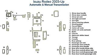 Isuzu Rodeo完全ダッシュトリムキット SKU1293-Chrome Mirror Like