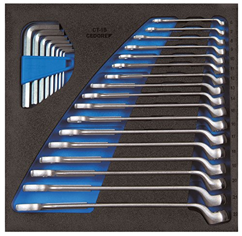 GEDORE 1500 CT2-1 B Ring-Maulschlüssel-Satz in Check-Tool-Modul