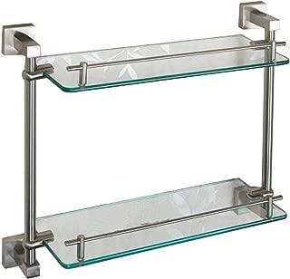 Best brushed nickel glass shelves Reviews