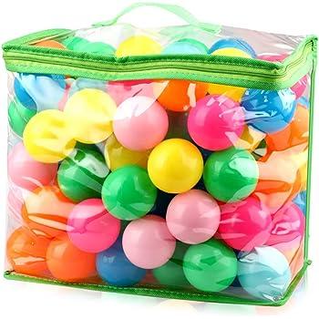 iKing カラーボール 海洋ボールのおもちゃ 7色 直径5.5cm カラフル 多色 やわらかポリエチレン製 PE より厚み 弾力あり 表面柔らかい 赤ちゃんおもちゃ ベビー用おもちゃ 安全 無毒 匂いナシ ビーチ ボール 子供が喜ぶカラフルな配色 プール/ボールプール/ボールハウス用 知育のボール 誕生日プレゼント ボールプール お風呂で遊ぶ・テント・遊園地おもちゃ (7色5.5cm)