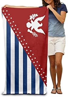 Flag Adult Beach Towels Fast/Quick Dry Machine Washable Lightweight Absorbent Plush Multipurpose Use Quality Towels for Swim,Pool,Beach,Gym,Camping,Yoga