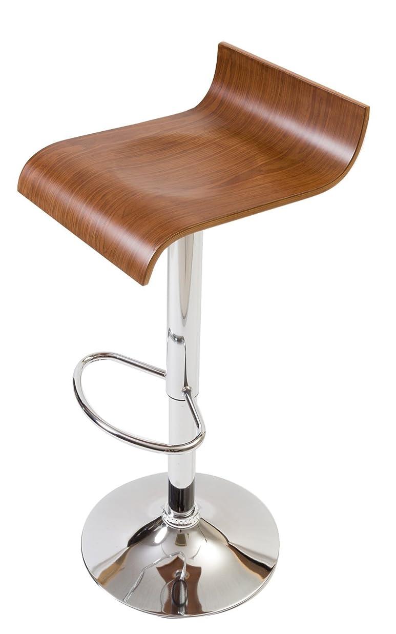 所持コスチューム彼は【流れるような大胆な木目使いの木製カウンターチェア】 座りやすさにもこだわった曲線デザイン プライウッドの美しいデザイン 座面のくぼみで座りやすい 昇降 360度回転 (ブラウン色)