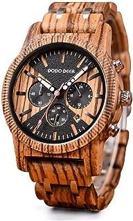 Wooden Stainless Steel Watch Men Quartz Watches Waterproof Chronograph Clock Fashion Sport Wristwach