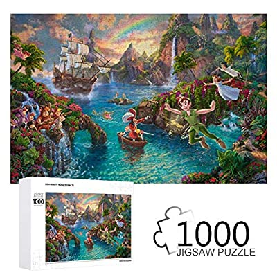 Promini Disney-Peter Pan Wooden 1000 Pieces Jigsaw Puzzles Daily Jigsaw Puzzle Games for Adults and Kids
