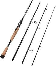 Fiblink 4 Pieces Travel Spinning Rod Medium Carbon Spinning Fishing Rod Portable Fishing Rod