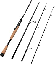 Fiblink 4 Pieces Travel Spinning Rod Medium Carbon Spinning Fishing Rod Portable Fishing Rod