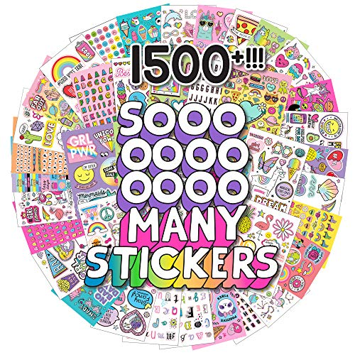 Just My Style 1500+ Sticker Book by Horizon Group USA,Positivity Quotes, Sweet Treats,VSCO Girl, Unicorns & Much More On 43 Pages of Absolute Fun