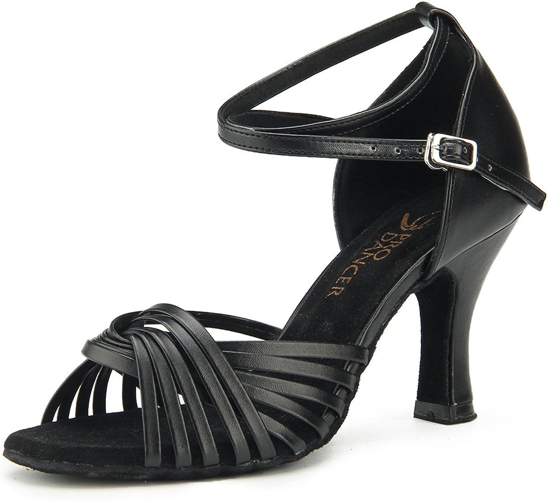 Pro Dancer Women Ballroom Dance shoes Salsa Latin Dance Sandals Black