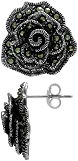 marcasite earrings antique