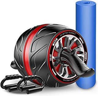 Xudongliu Tone Fitness Ab Roller Wheel for Abs Workout | Exercise Equipment & Accessories (Color : A)