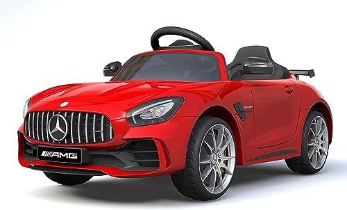 ganancia cero Licensed Mercedes Benz GTR 12V Motors Kids Electric Ride Ride Ride On Car rojo  salida para la venta