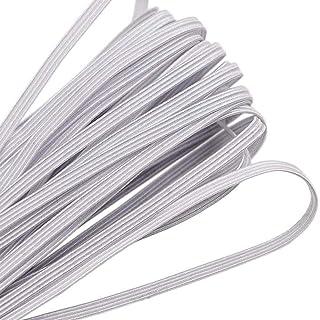 90 Yards Length 1/8 Inch Width Briaded Elastic Band Elastic Rope White Heavy Stretch Knit Elastic Spool