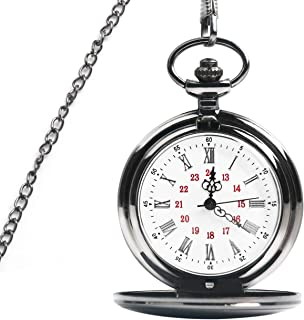 OKPOW Reloj de Bolsillo Hombre, Relojes de Bolsillo con