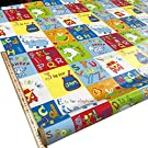 Fyvie Star Crafts Ltd. Wipe Clean Tablecloth Vinyl PVC Children's A for Apple Alphabet Early Learning (300cm x 135cm)