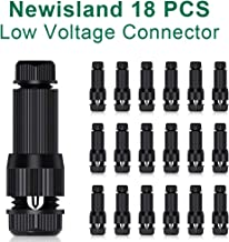 Newisland Low Voltage Fastlock Landscape Wire Connector 12-16 Gauge Cable Connectors for Landscape Path Lights Work with Malibu Paradise Moonrays and More (18 Pcs)