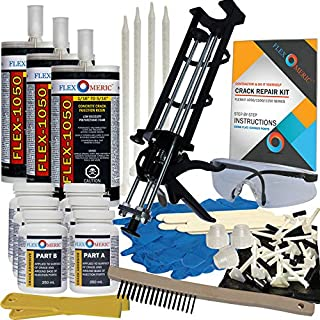 Concrete Foundation Crack Repair Kit - Low Viscosity Polyurethane - FLEXKIT-1050-30