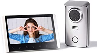 SIMBAILAI 7 Pouces Interphone vidéo sans Fil Interphone portier vidéo Couleur avec Image mémoire Station,300M,Affichage H...