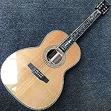 FKKLGNBDR Guitarra 39 Pulgadas Cedro Sólido Cuerpo Clásico Clásico Guitarra Acústica Principiante Guitarra Acústica (Color : Acoustic, Size : 39 Inches)